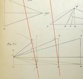A page featuring three diagrams of lines positioned at different angles, labelled with numbers and letters.