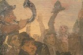 Fig.7 Detail of brushwork in figures and sky