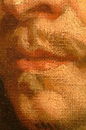 Fig.7 Detail of the sitter's mouth