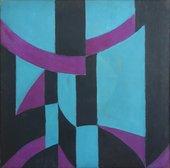 Fig.7 Anthony Hill, Composition, Light Blue, Dark Blue and Violet 1952
