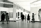 Fig.7 Photograph of the private view of 54–64: Painting and Sculpture of a Decade, 22 April – 28 June 1964, Tate Gallery, London