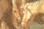 Fig.8 Detail of brushwork – horses' heads