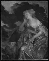 Fig.8 Infrared reflectogram of Portrait of a Lady as a Shepherdess c.1670