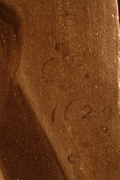 Fig.8 Signature and date, lower right corner