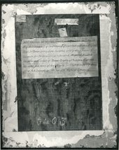 Fig.8 The back of Portrait of Elizabeth Roydon, Lady Golding 1563, photographed in black and white