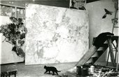 Fig.8 Sam Francis's studio in Arcueil, Paris, with In Lovely Blueness (No.2) 1955–6 at the centre