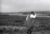 Fig.8 Joseph Beuys on Rannoch Moor, with Loch Ba behind, Scotland, 8 May 1970