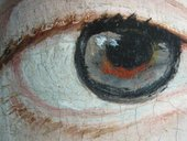 Fig.8 Detail of the sitter's right eye