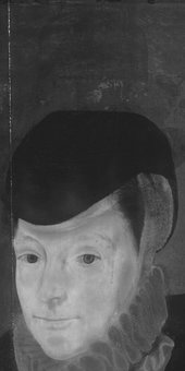 Fig.9 Infrared reflectogram of the face and hat