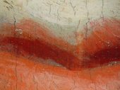 Fig.9 Detail at x8 magnification of the lips. Note the grey priming left visible to form the half-shadow.