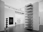 Fig.9 Installation view of The Art of the Real, Tate Gallery, 1969, with works by Donald Judd, David Smith, Agnes Martin and Paul Feeley