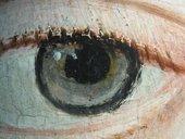 Fig.9 Detail of the sitter's left eye