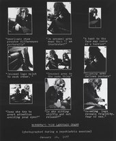 Fig 1 Lynn Hershman Roberta's Body Language Chart 1978; printed 2009
