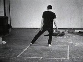 Bruce Nauman Dance or Exercise on the Perimeter of a Square (Square Dance) 1967–8 (still)