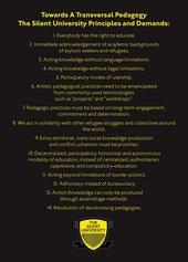 Fig.10 Ahmet Ögüt, 'Towards a Transversal Pedagogy: The Silent University Principles and Demands', statement published on the website of The Silent University, established 2012