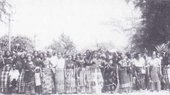 Fig.11 Re-enactment of the 1929 Aba Women's Riot, Ikot Abasi, 16 December 1989