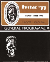 Fig.14 Front and back covers of the general programme for the Second World Festival of Black Arts and Culture, Lagos, 1977