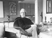 Fig.1 E.J. Power in his flat at 37 Grosvenor Square, London c.1979