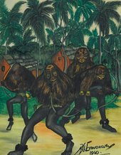 Fig.3 Ben Enwonwu, Ugala Masquerade 1940