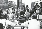 Discussion at an FIU workshop during Documenta 6, Kassel, 1977