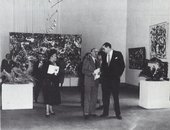 Fig.3 Press opening of the exhibition Twelve Modern American Painters and Sculptors, Musée National d'Art Moderne, Paris, 1953