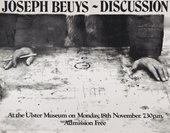 Fig.6 Joseph Beuys, Joseph Beuys: Discussion. The Ulster Museum, Northern Ireland 1974