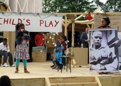 Fig.7 Thomas Hirschhorn, Child's Play, performance at The Bijlmer Spinoza-Festival, Amsterdam, 2009