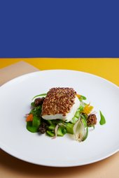 Fillet of halibut dish