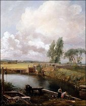 John Constable Flatford Lock from the Mill House ca. 1814