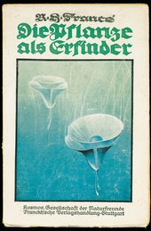 R.H. Francé Die Pflanze als Erfinder (Plants as Inventors) 1920 Front cover