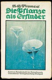 R.H. Francé Die Pflanze als Erfinder (Plants as Inventors) 1920 Front cover