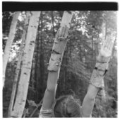 Francesca Woodman, Untitled, MacDowell Colony, Peterborough, New Hampshire, 1980, gelatin silver print on paper, 20.3 x 25.4 cm - © Courtesy of George and Betty Woodman