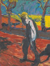 Francis Bacon, Study for a Portrait of Van Gogh IV, 1957, oil paint on canvas, 152.4 x 116.8 cm