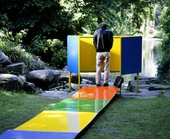 Franz West's urinal sculpture Étude de couleur 1991 at Skulptur Projekte Münster, 1997