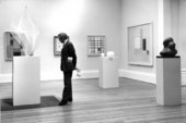 Tate collection displays 1971, Gallery 39 including Naum Gabo T01105 Linear Construction No. 2