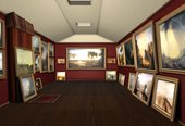 A recreated view of Turner's gallery using George Jones's paintings