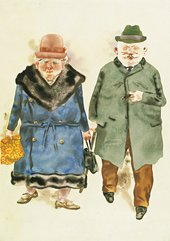 George Grosz: A Married Couple, 1930