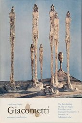 a reproduction of Tate's 1965 Giacometti exhibition poster