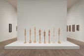 Installation view of the Women of Venice 1956 in Alberto Giacometti at Tate Modern