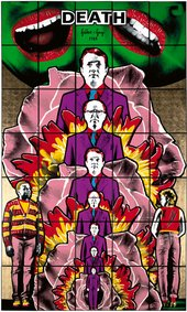 mixed media piece by Gilbert and George
