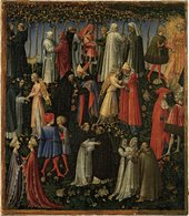 Giovanni di Paolo, Paradise, 1445, tempera and gold on canvas, transferred from wood, 44.5 x 38.4 cm