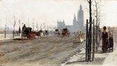 Giuseppe De Nittis The Victoria Embankment, London 1875 Private Collection