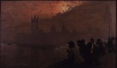 sunset painting of Westminster