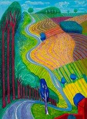 David Hockney Going Up Garrowby Hill 2000 Private Collection © David Hockney