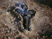Ana Mendieta Untitled: Silueta Series (Gunpowder Works) 1980, film still. Copyright The Estate of Ana Mendieta Collection, L.L.C. Courtesy Galerie Lelong & Co. and Alison Jacques Gallery