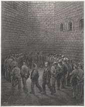 Gustave Doré's engraving Newgate - Exercise Yard, a plate from London- A Pilgrimage, published in 1872