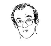 Keith Haring portrait
