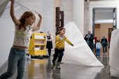 Two children at Playing Up event at Tate Britain