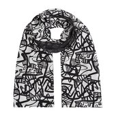 Monochrome scarf made from Patrick Heron print
