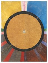 Hilma af Klint, Group X, No.3, Altarpiece, 1915, oil paint and metal leaf on canvas, 237.5 x 178.5 cm - Courtesy Stiftelsen Hilma af Klints Verk